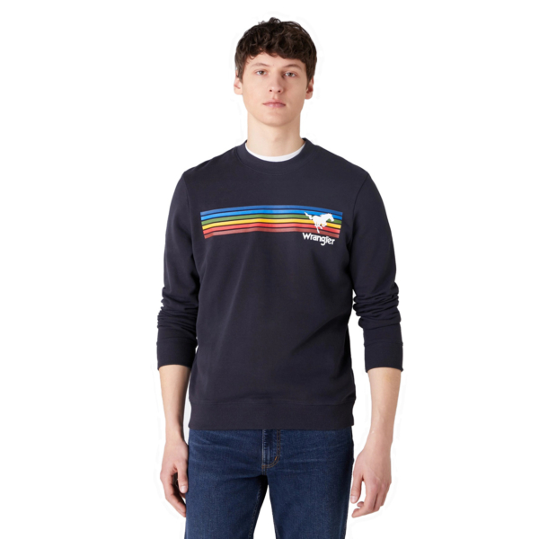 WRANGLER Explorer Men Sweat - Dark Navy (W6D0HYXAE)