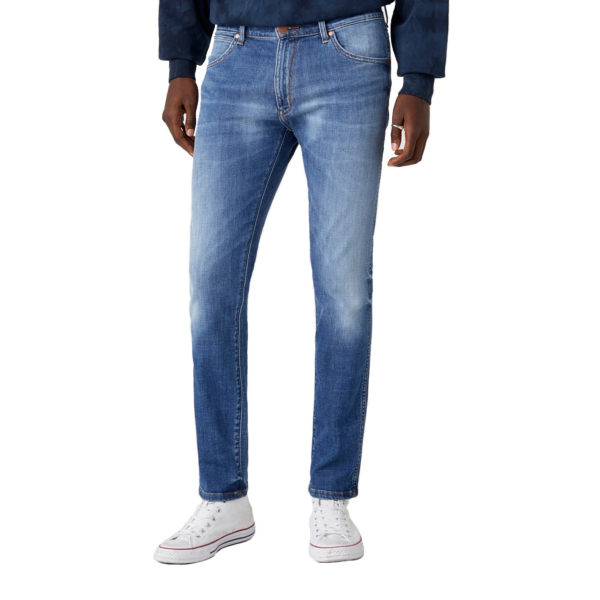 WRANGLER Larston Jeans Slim Tapered - De Lite Blue (W18SQ148R)