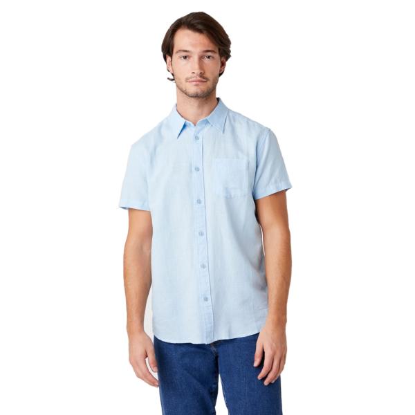 WRANGLER One Pocket Short Sleeve Shirt - Cerulean Blue (W5J7LOXVT)