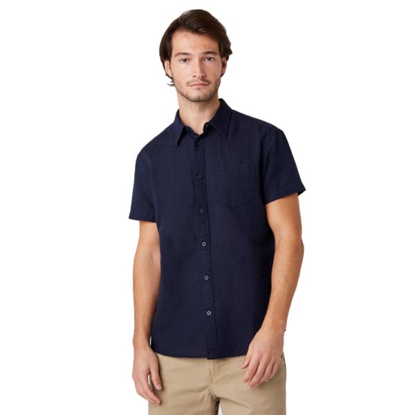 WRANGLER One Pocket Short Sleeve Shirt - Navy (W5J7LO114)
