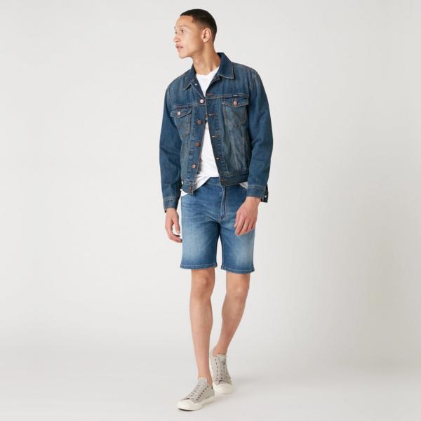 WRANGLER Texas Denim Shorts - De Lite Blue (W11CQ148R)