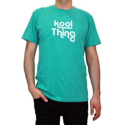 KOOL THING x HOLY STUFF Men T-Shirt - Mint Flama