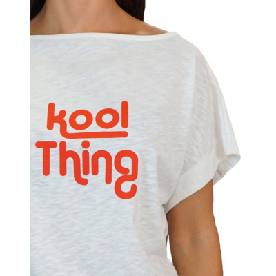 KOOL THING x HOLY STUFF Bat Cropped Top - Off White