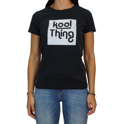 KOOL THING x HOLY STUFF Women T-Shirt - Black