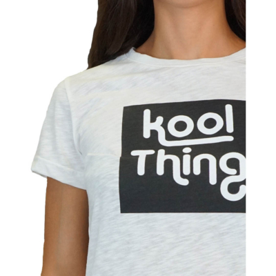 KOOL THING x HOLY STUFF Women T-Shirt - Off White (detail)