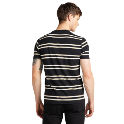 LEE Basic Stripe Men Tee - Black (L61L-EE-01)
