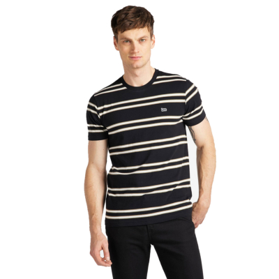 LEE Basic Stripe Tee - Black (L61L-EE-01)