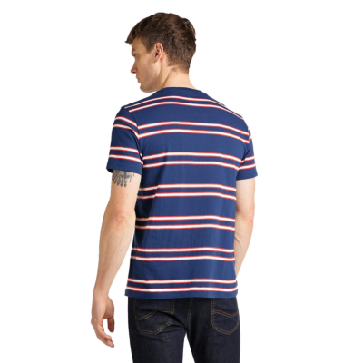 LEE Basic Stripe Men Tee - Washed Blue (L61L-EE-LR)
