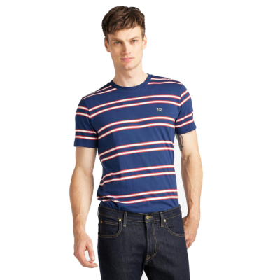 LEE Basic Stripe Tee - Washed Blue (L61L-EE-LR)