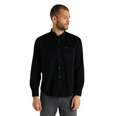 LEE Button Down Cord Shirt - Black (L880-MR-01)