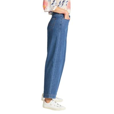 LEE Button Thru Wide Leg Jeans - Dark Drape