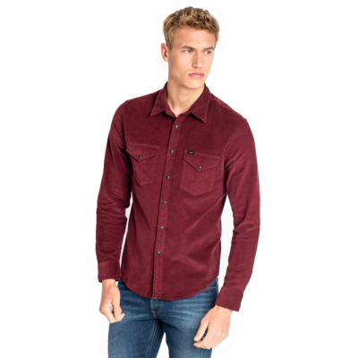 LEE Clean Western Cord Shirt - Burgundy (L644MRMF)