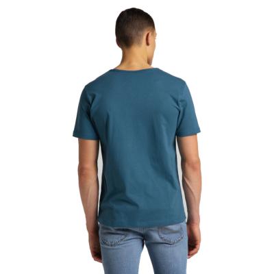 LEE Embro Logo Men T-Shirt in Teal (L61ZFEQO)