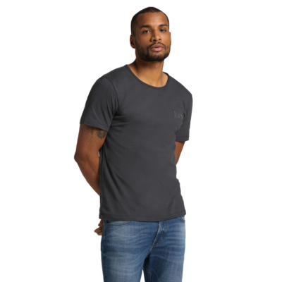 LEE Embro Logo Men Tee - Washed Black (L61ZFEON)