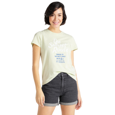 LEE Graphic Women Tee - Summer Green (L41A-EP-NK)