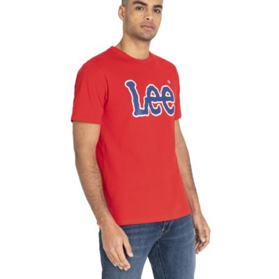LEE Logo Men Tee - Bright Red (L60UFEEF)