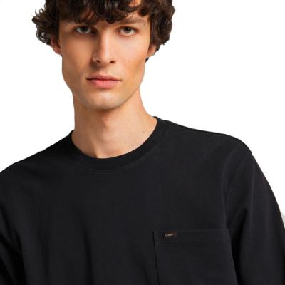 LEE Μακρυμάνικο Ανδρικό Μπλουζάκι - Μαυρο (L64Q-SW-01)