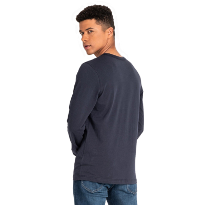 LEE Outline Logo Long Sleeve Men Tee - Midnight Navy (L60GFEMA)