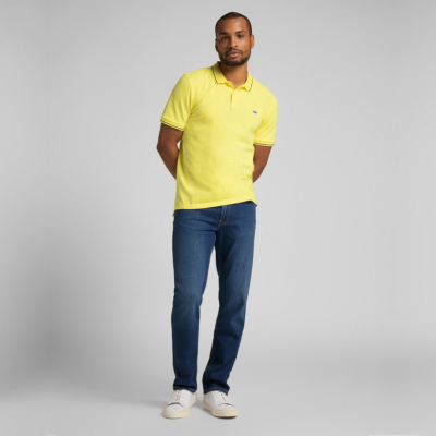 LEE Πολο Μπλουζάκι Ανδρικό Κίτρινο (L61ARLQG)