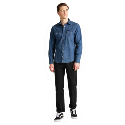 LEE Rider Jean Shirt - Dipped Blue (L851-PL-LA)