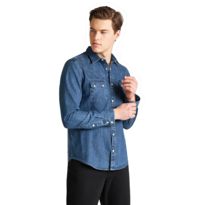 LEE Rider Denim Men Shirt - Dipped Blue (L851-PL-LA)