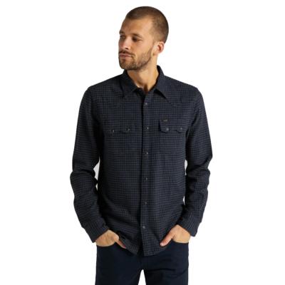 LEE Rider Men Shirt - Dark Grey Mele (L851RP06)