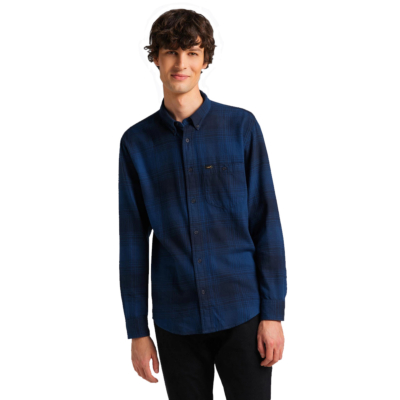 LEE Riveted Men Shirt - Washed Blue (L66INNLR)