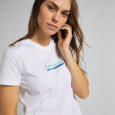 LEE Μπλουζάκι Γυναικείο Λογότυπο Λευκό (L44NEPLJ)