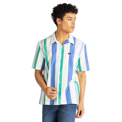 LEE SS Resort Men Shirt - Summer Blue (L67P-DV-NJ)