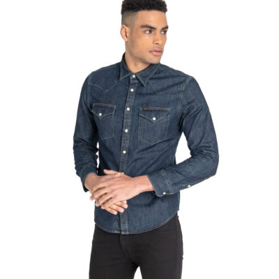 LEE Western Denim Men Shirt - BluePrint (front)