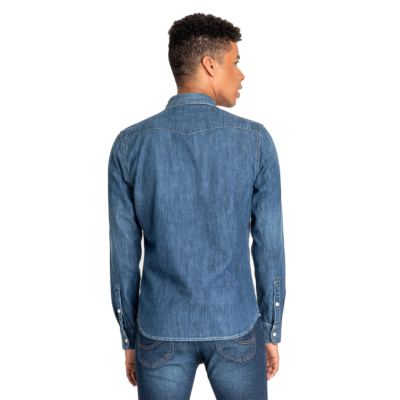 LEE Western Denim Shirt Men - Oil Blue (L643PLMO)