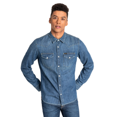 LEE Western Denim Shirt - Oil Blue (L643PLMO)