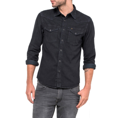 LEE Western Denim Shirt - Pitch Black (L643KBGL)