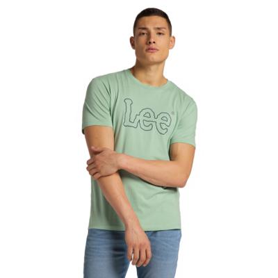 LEE Wobbly Logo Tee Men - Granite Green (L65QAIQN)