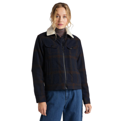 LEE Wool Check Sherpa Jacket - Winter Brown (L56XMSOH)