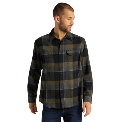 LEE Worker Flannel Men Shirt - Olive Green (L68HRINX)