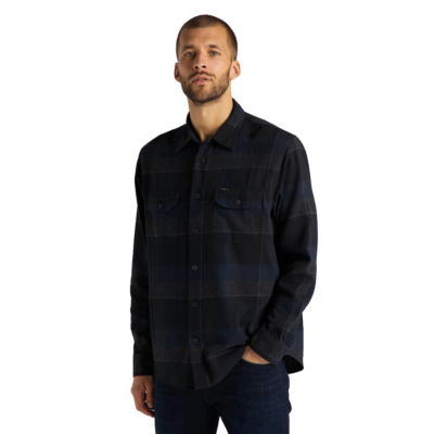 LEE Worker Flannel Men Shirt - Sky Captain (L68HRIHY)