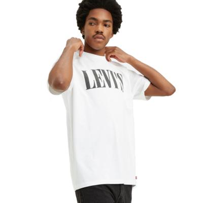 Levi's® 90s Serif Logo Relaxed Tee - White (69978-0026)