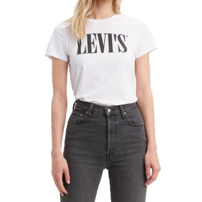 Levi's® 90s Serif Logo Women Tee - White (17369-0781)
