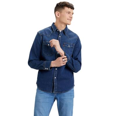 Levi's® Barstow Western Denim Slim Stretch Shirt - Dark Worn Blue (85744-0009)