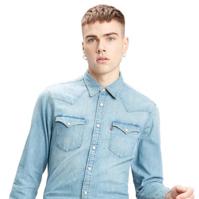 Levi's® Barstow Denim Standard Shirt - Red Cast Stone (85744-0001)