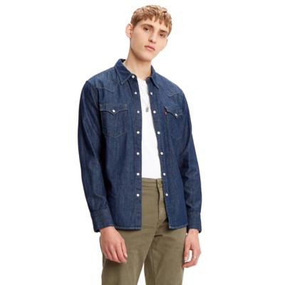 Levi's® Barstow Denim Standard Shirt - Rinse Marbled (85744-0000)