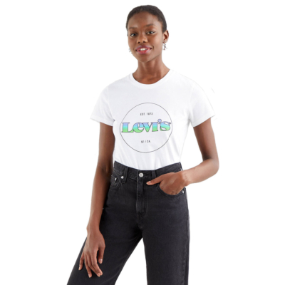 Levi's® The Perfect Tee Circle Logo - Gradient White (17369-1295)