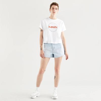 Levi's® Cropped Μπλουζάκι Γυναικείο Λογότυπο Λευκό (69973-0153)