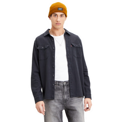 Levi's® Jackson Worker Flannel Shirt - Black Rinse (19573-0117)