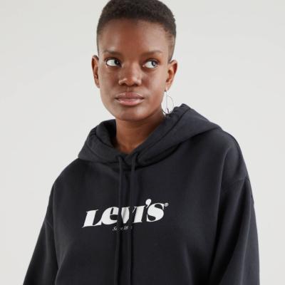Levi's® Φούτερ με Κουκούλα γυναικείο - Μαύρο (18487-0004)