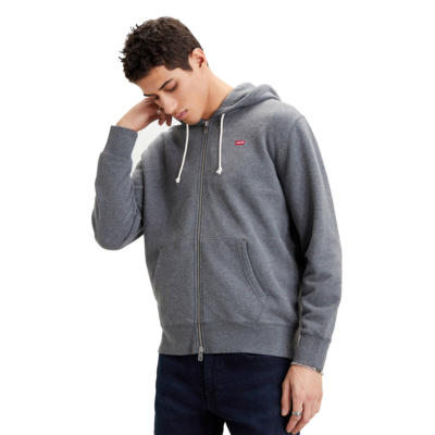 Levi's® New Original Zip Up Hoodie - Charcoal Heather (34584-0000)