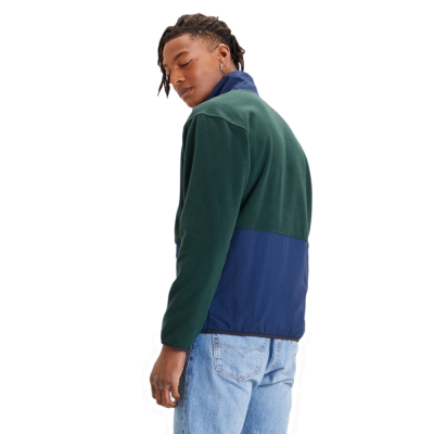 Levi's® Quarter Zip Polar Men Fleece - Varsity Color Block Python Green (35978-0001)