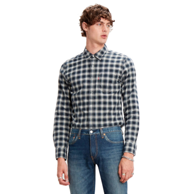 Levi's® Sunset 1 Pkt Shirt Antonio - Mineral Black (86619-0013)