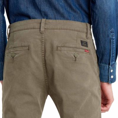 Levi's® XX Chino™ Standard Taper - Bunker Olive Shady (back pocket)